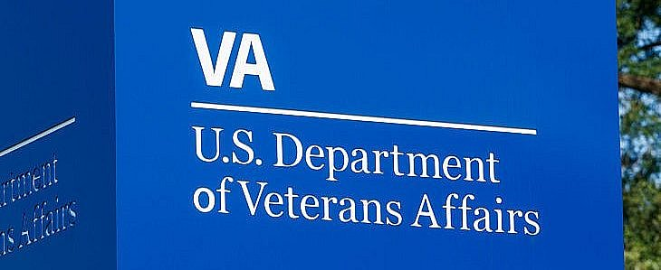 Signage and logo of the U.S. Department of Veterans Affairs