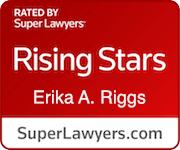 Erika Riggs Rising stars super lawyers badge
