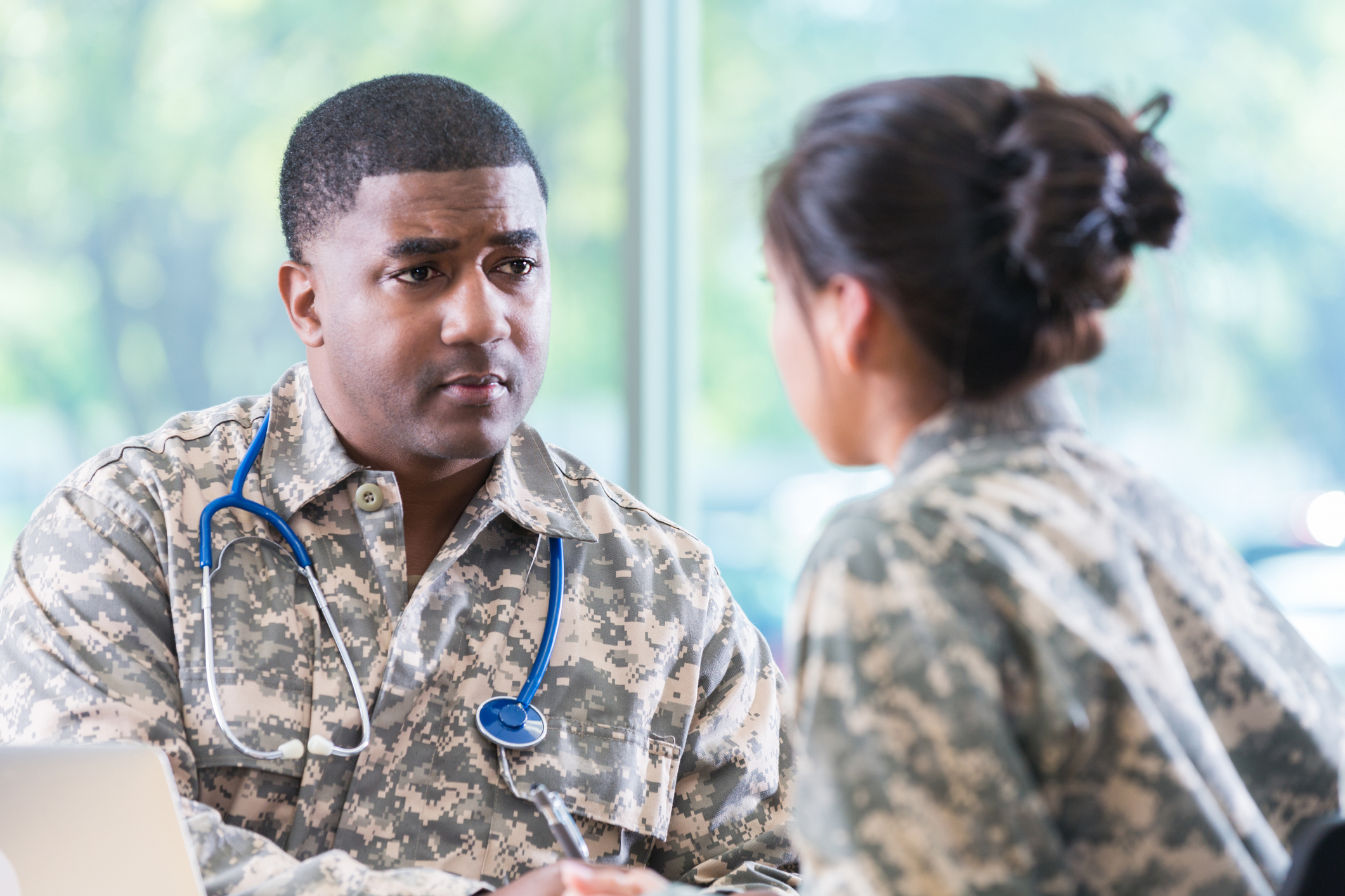 Veteran meeting doctor after exposure to PFAS chemicals