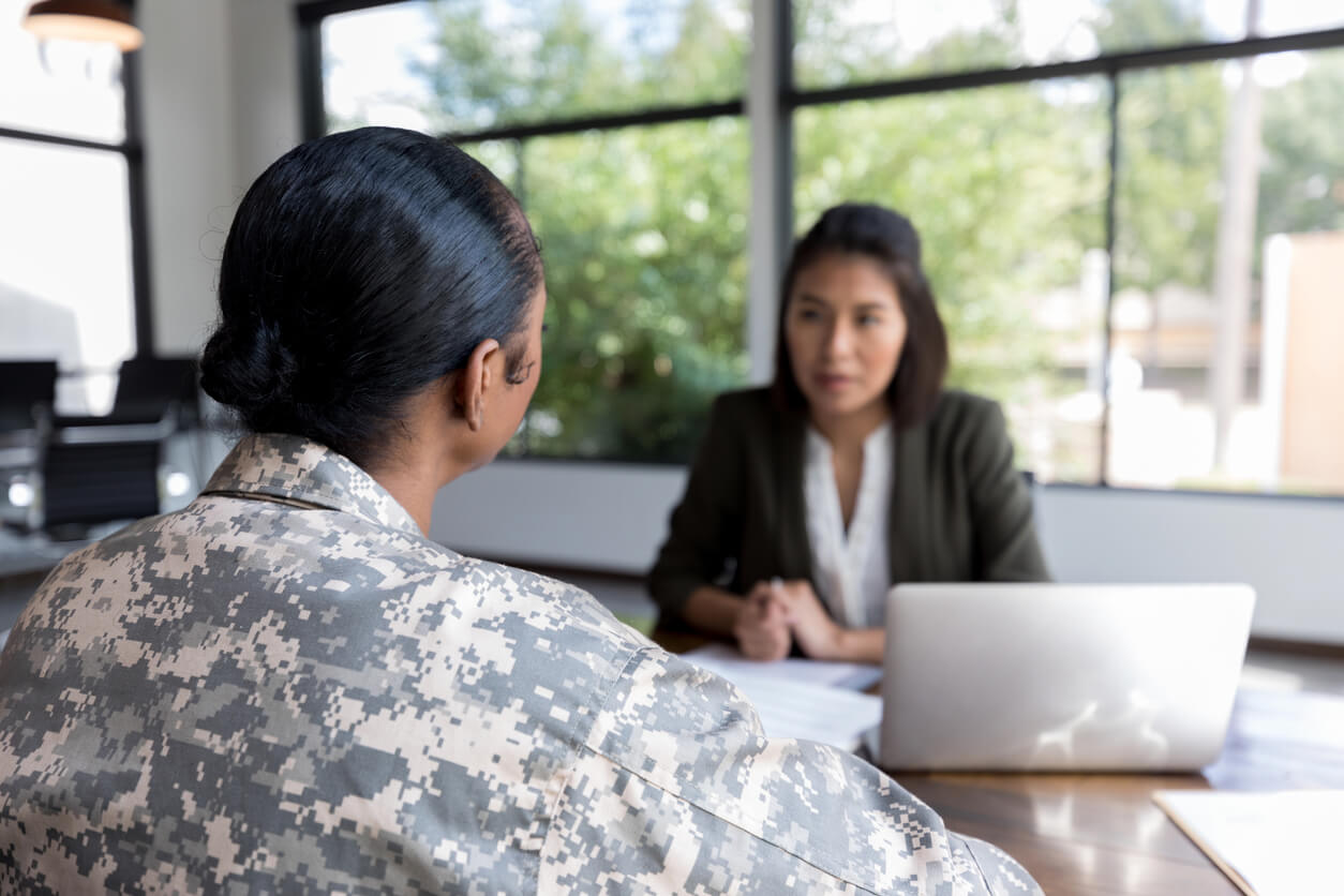 female veteran and attorney