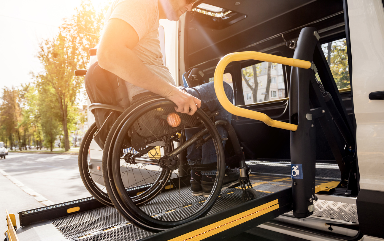 disabled man going to disability hearing